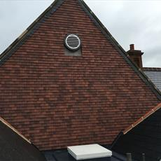 Gable end with circle vent