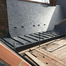 Pitched and Flat roof with vents 2