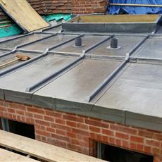 Lead Flat roof two chinney